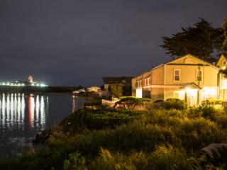 Inn at Mavericks Side View At Night