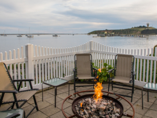 Inn at Mavericks Outdoor Fire-Pit Overlooking The Bay And Pillar Point Air Force Station